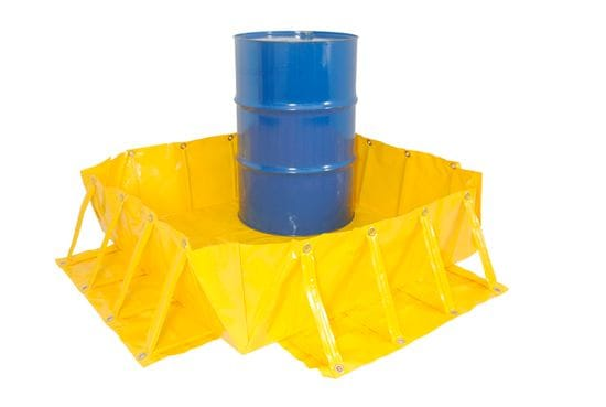 Portable spill bunds: the easy way to temporarily store drums