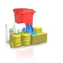 240 ltr Hi-Vis (Chemical) Standard Wheelie Bin Spill Kits