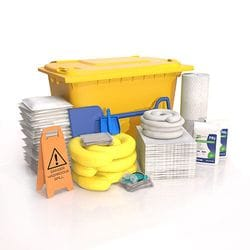 660 ltr Oil & Fuel Wheelie Bin Spill Kit