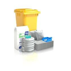 120 ltr Standard Oil & Fuel Wheelie Bin Spill Kit Refill