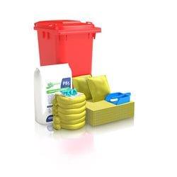 120 ltr Standard Hi-Vis (Chemical) Wheelie Bin Spill Kit