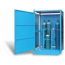 Single Sided Security Gas Cylinder Store - 9 Cylinders