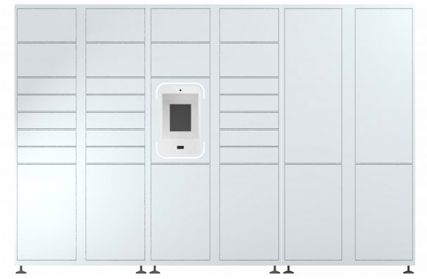 Groundfloor smart parcel lockers apartments
