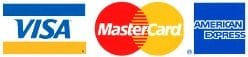 We Accept Visa Mastercard Amex