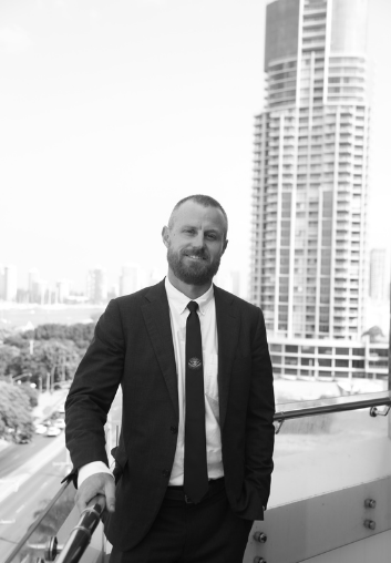 Principal Samuel Rees Standing on IP Partnership Balcony   Our Team   Lawyers   Intellectual Property