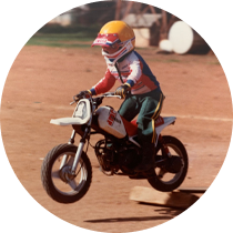 7 year old Grant began tearing up the family farm in a go-karts and motor-bikes, and decided he wanted to race professionally.