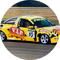 The V8 Ute racing series is created by Grants father Craig Denyer. This was Grants first serious racing effort, finishing the year as the seasons highest placed rookie - 4th outright, with a pole position at Bathurst and several podiums. Grant Continued in the V8 Ute series for 4 years, under the racing nickname 'Mad Dog', winning the Dunlop Trophy series, with a number of race wins and lap records.