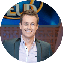 Grant joined Network 10 as the host of the revived television classic Family Feud