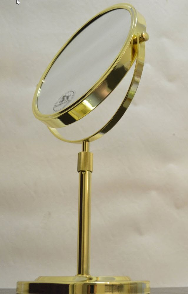 Thumbnail 5x  Magnification Gold Vanity Mirror