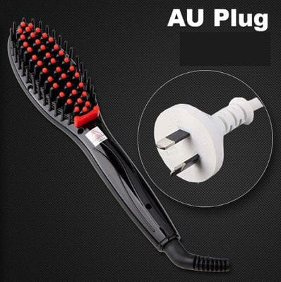Electric Hair Straightener Brush - No more Tangles