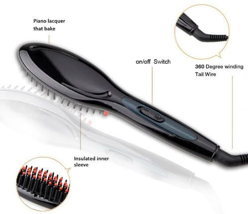 Thumbnail Electric Hair Straightener Brush - No more Tangles