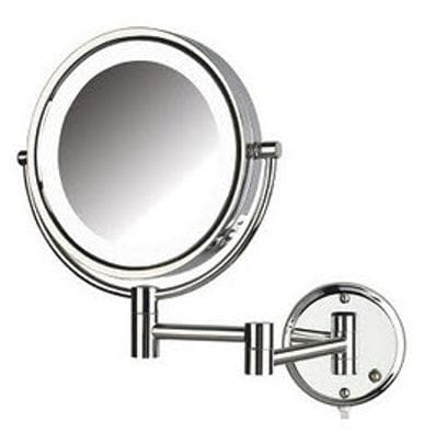 8X Wall Mounted LED Lighted Magnifying Mirror Plug In