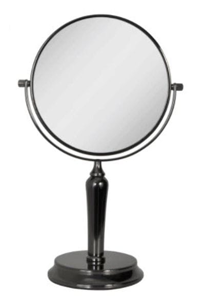 5X Magnifying Mirror in Gunmetal Finish