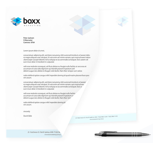 Letterheads 100gsm single sided