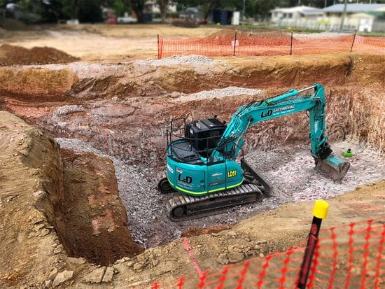 New Fuel Station Tank Excavation Brisbane