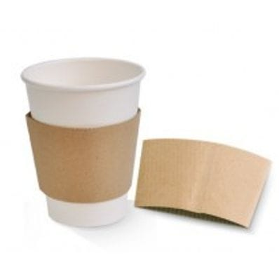 8oz Kraft Hot Cup Sleeve 1000 Per Carton