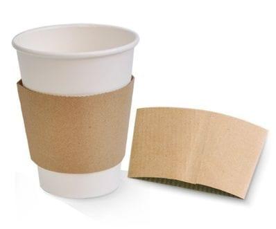 12-16oz Kraft hot Cup Sleeve 1000 Per Carton