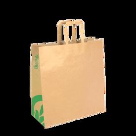 Medium Flat Handle Kraft Paper Bag