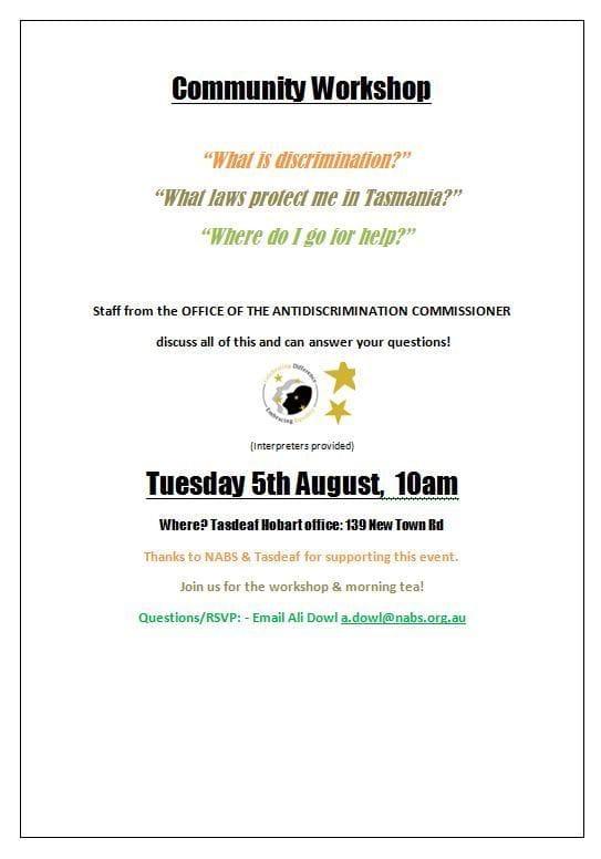 Community Workshop - Tasmania