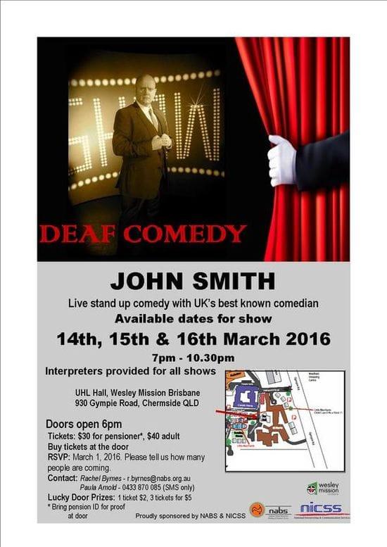 Deaf Comedy - John Smith