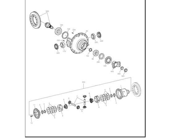 Doosan Loader Parts - Front Differential Assy