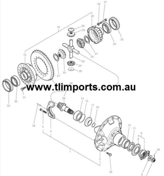 Hyundai Loader HL770 - Crown Wheel & Pinion