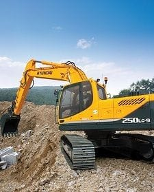 Hyundai Excavator Robex 250LC-9 - Rear View Camera Kit