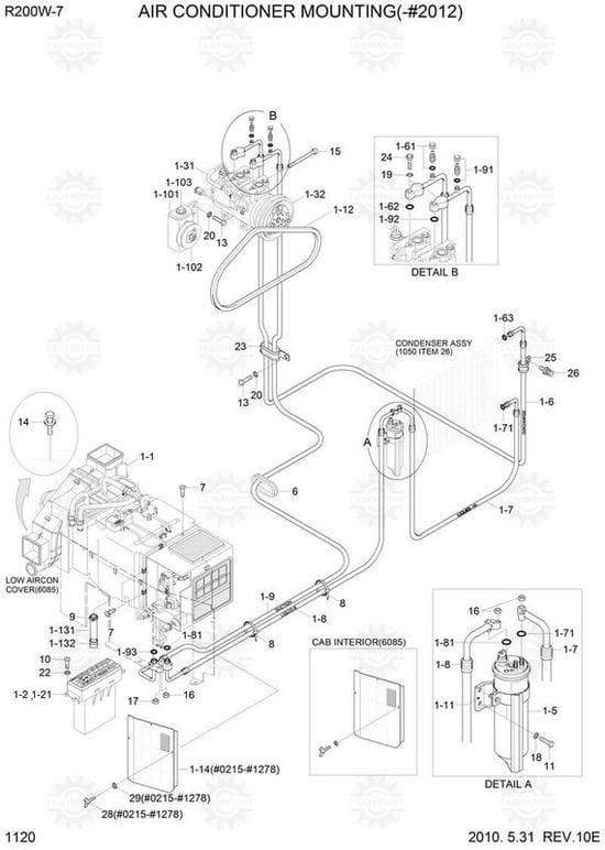 Hyundai 200W-7 Parts - A/C Controller Assy