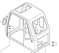 Cabin Parts - DX190W