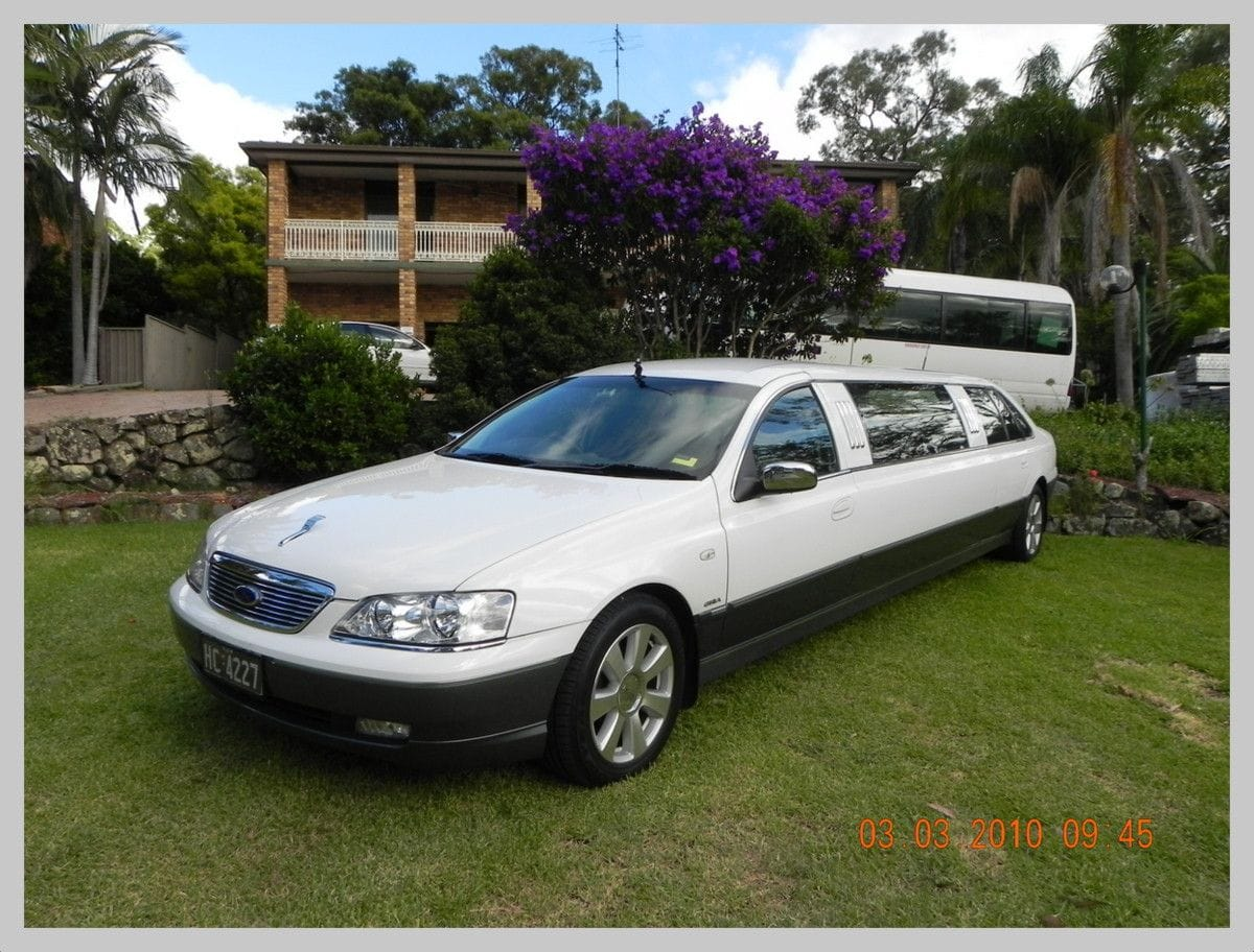 One of our comfortable limos for airport transfers in Newcastle