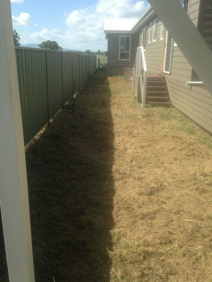 Investment property landscaping.