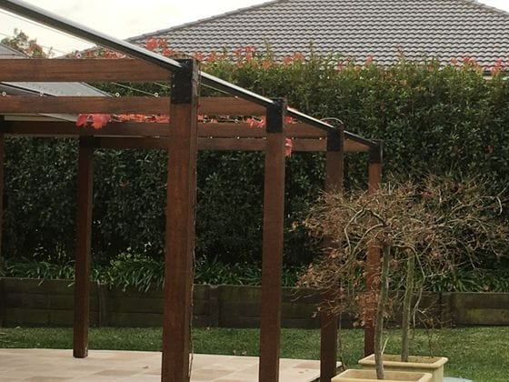 Shade sails, water features and outdoor structures
