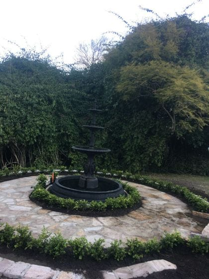 Dungog - Sandstone and water feature