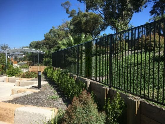 Aged care facility - fencing and landscaping