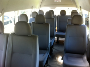 Hunter Valley 13 Passenger Seat Mini buses interior