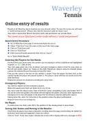 Online Results Entry Instructions