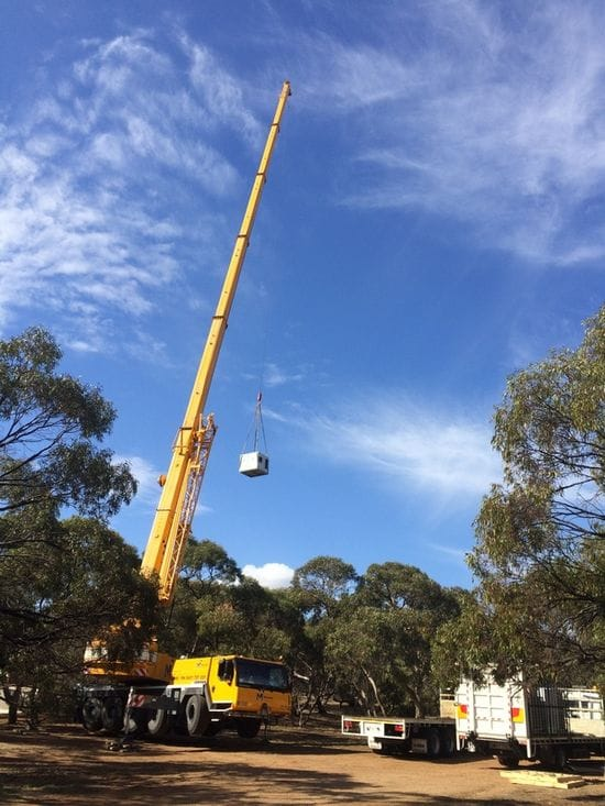 Crane Lift at School