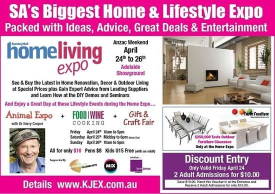 See Us At The Home Living Expo