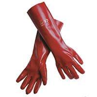 Chemical Gloves Red PVC 45cm