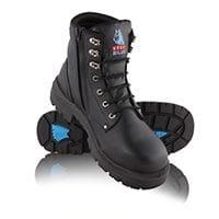 Steel Blue Boots Argyle Zip Black