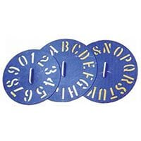 Bainbridge Clockface Plastic Stencils 0-9 each