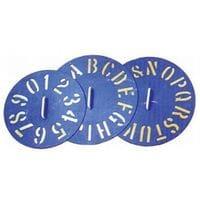 Bainbridge Clockface Plastic Stencils 0-9 each
