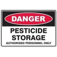 Silvan Sign Pesticide Storage