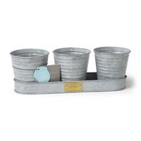 Sophie Conran for Burgon & Ball Herb Pots Trio Galvanised