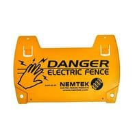 Nemtek Warning Sign - Supplied By Nemtek - Double Sided