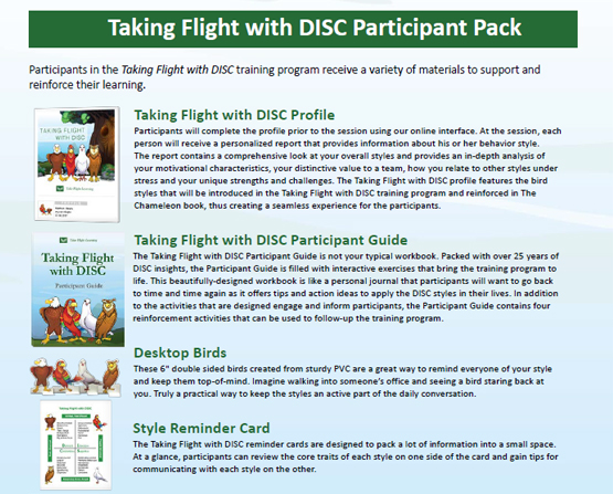 Taking Flight with DISC Participant Pack