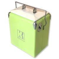 17L Fluro Mint Retro Cooler