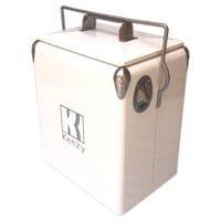 17L White Retro Cooler
