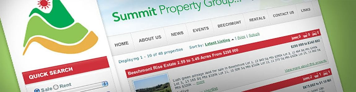 Summit Property Group use Bloomtools' Real Estate tool