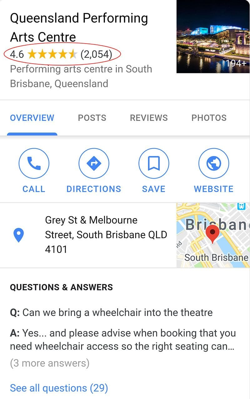 How Google Reviews Appear On Mobile Search Results